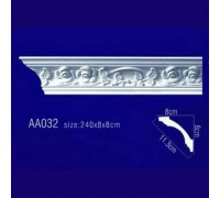 потолочный плинтус с орнаментом Гибкий AA032F