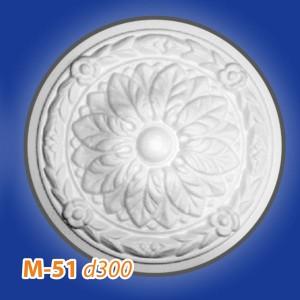 Розетка потолочная из полистирола M51