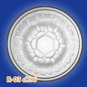 Розетка потолочная из полистирола R03