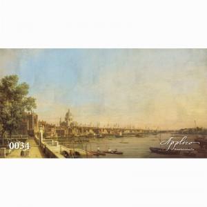 Фреска классический пейзаж фр0034