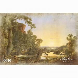 Фреска классический пейзаж фр0040