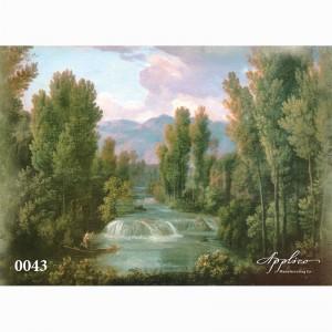 Фреска классический пейзаж фр0043