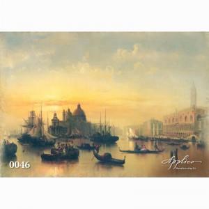Фреска классический пейзаж фр0046
