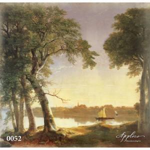 Фреска классический пейзаж фр0052